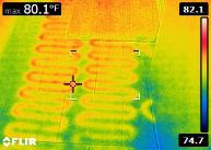 Infra-Red Image of Radiant Heat